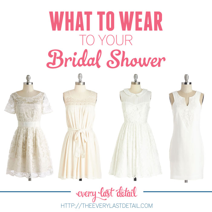 what to wear to your bridal shower via theeldcom