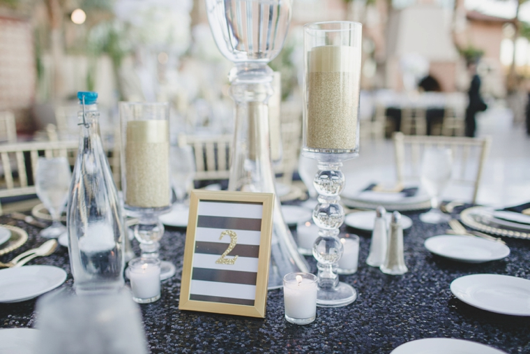 A Glamorous Black and White Wedding via TheELD.com
