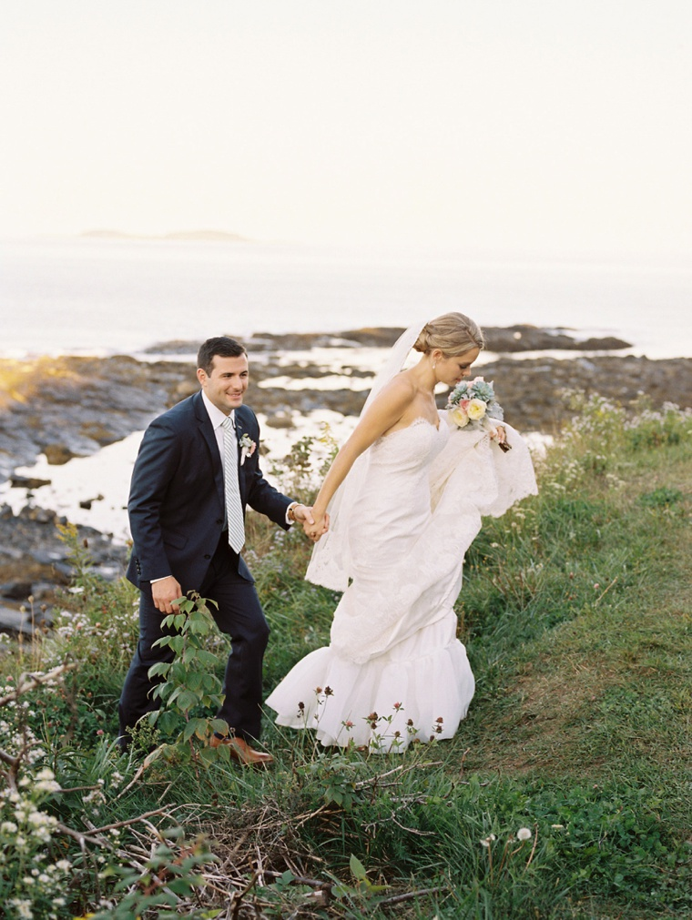 A Classic Pink & Sage Maine Wedding via TheELD.com
