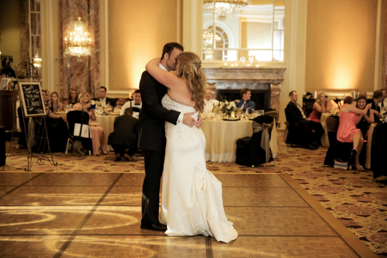 A Timeless, Elegant Black and White Wedding via TheELD.com