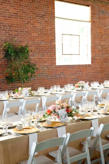 A Romantic Pink and Blue Wedding via TheELD.com