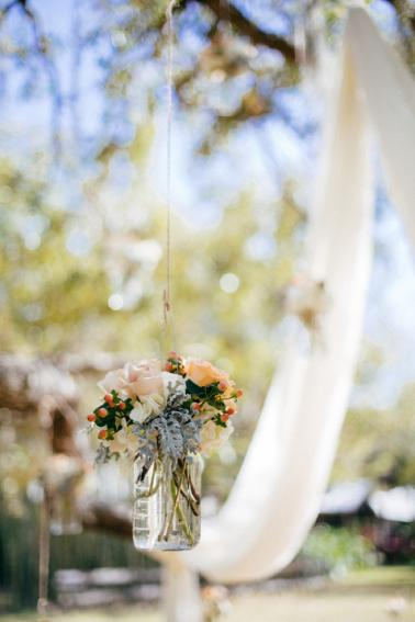 A Boho & Eclectic Backyard Wedding via TheELD.com