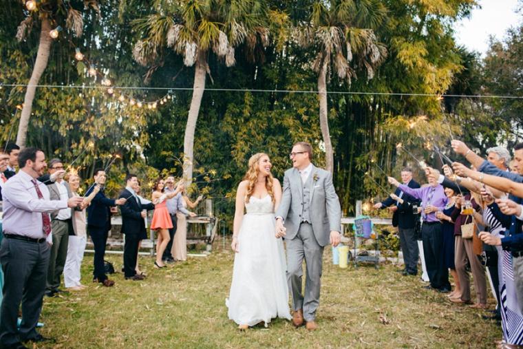 A Boho & Eclectic Backyard Wedding via TheELD.com