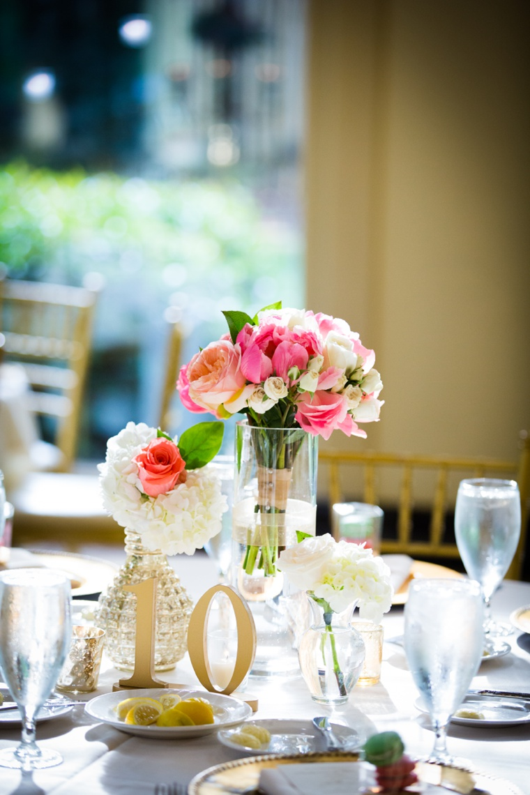 Elegant Pink and Gold Wedding via TheELD.com