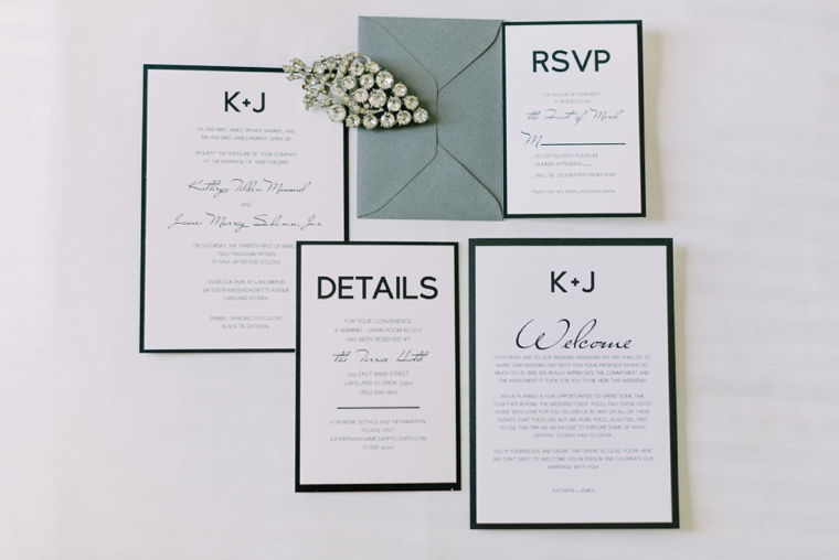 Modern Chic Green & White Wedding via TheELD.com