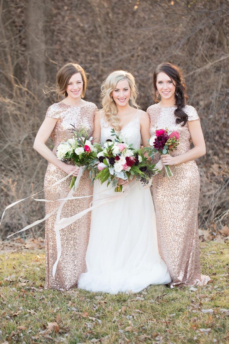 Rose Gold Wedding Bridesmaid Dress