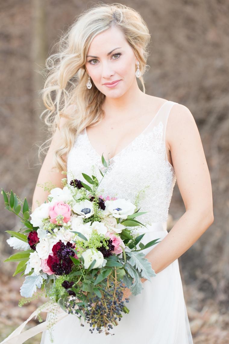 Romantic Blush, Marsala and Gold Wedding Ideas via TheELD.com