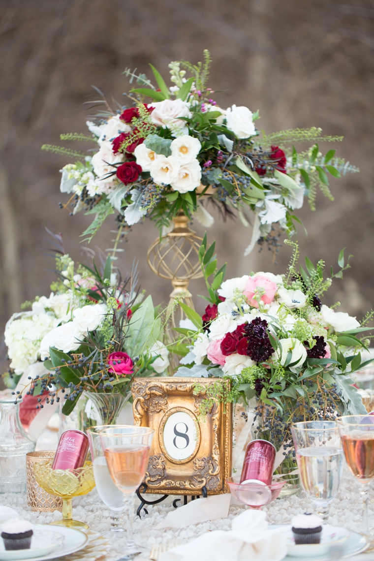 Romantic Blush, Marsala and Gold Wedding Ideas via TheELD.com