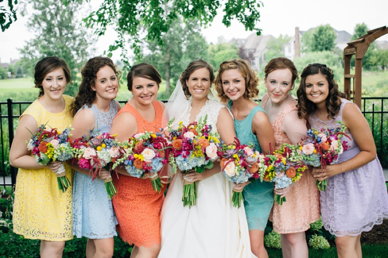 Colorful Rustic Illinois Barn Wedding