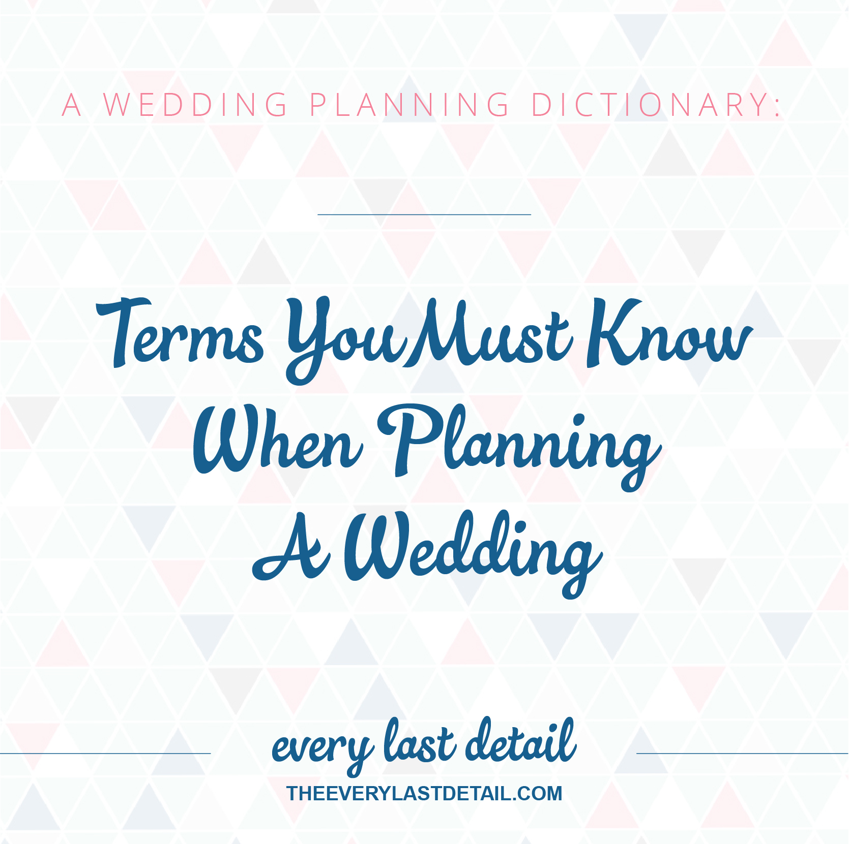 A Wedding Planning Dictionary: Terms You Must Know When Planning A ...