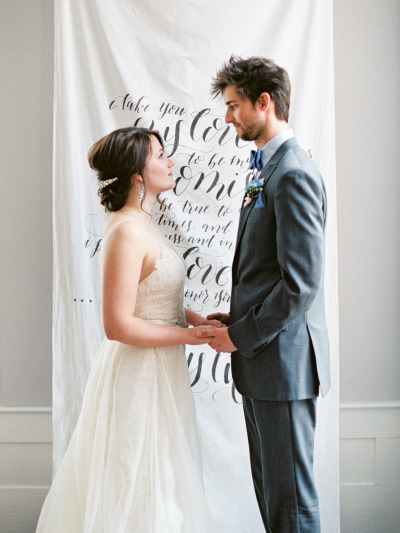Amazing wedding ideas calligraphy ceremony backdrop