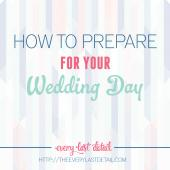 prepare for your wedding day