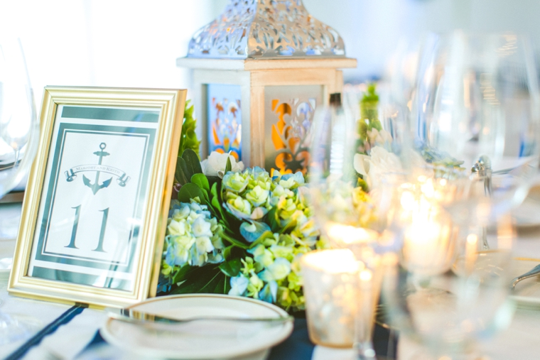 A Nautical Navy, Pink and White Wedding via TheELD.com
