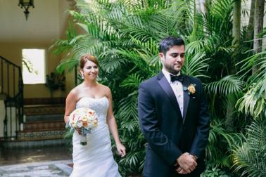 Elegant Blush Garden Wedding via TheELD.com