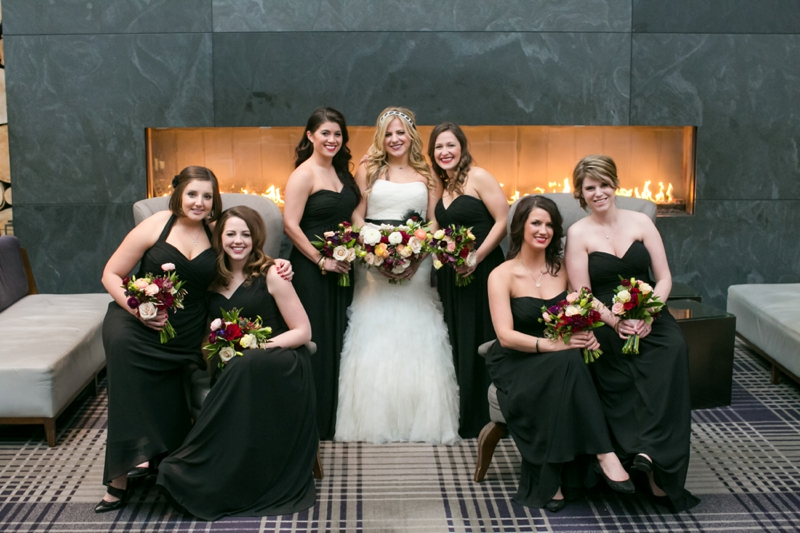 Modern Blush and Red Wedding via TheELD.com