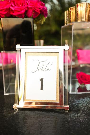 Modern Pink and Black Wedding Ideas via TheELD.com