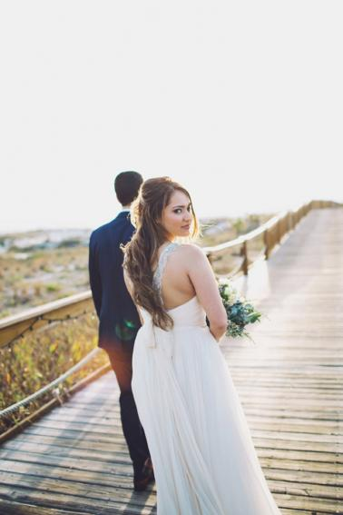 Romantic & Natural Beach Wedding Ideas via TheELD.com