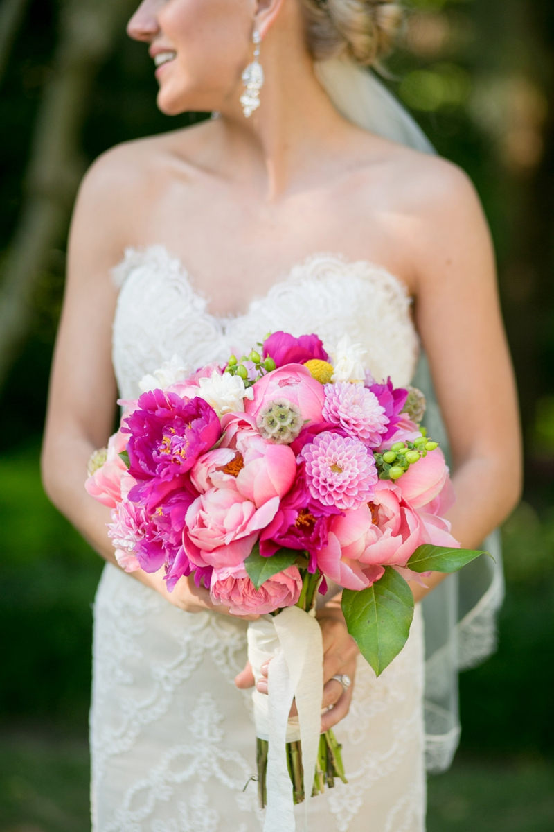 A Pink Vintage Chic North Carolina Wedding via TheELD.com