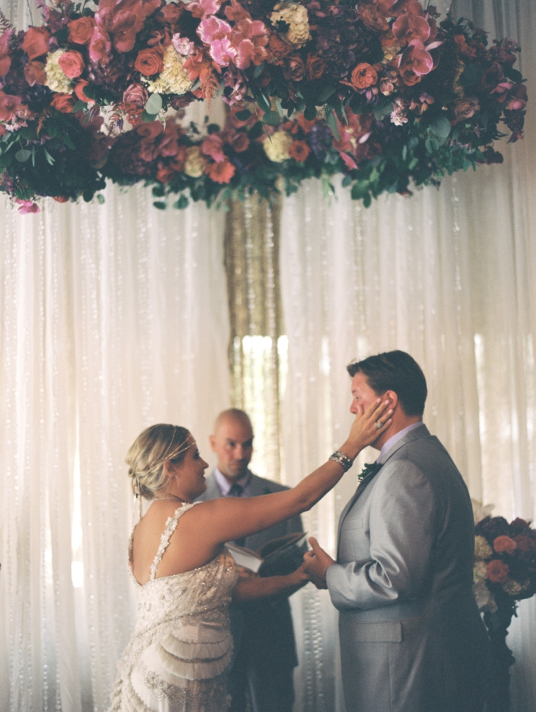 A Pink & Plum Modern Vintage Wedding via TheELD.com