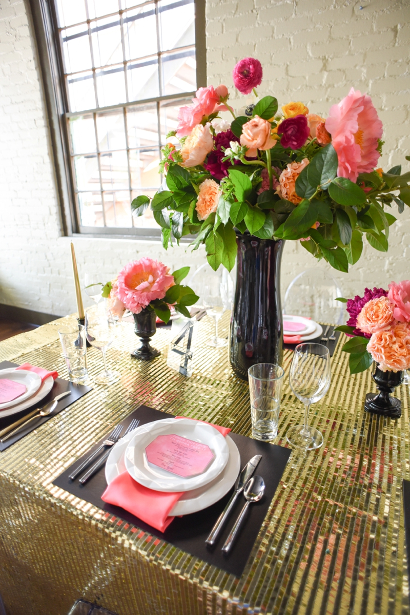 Chic Modern Pink and Orange Wedding Ideas via TheELD.com
