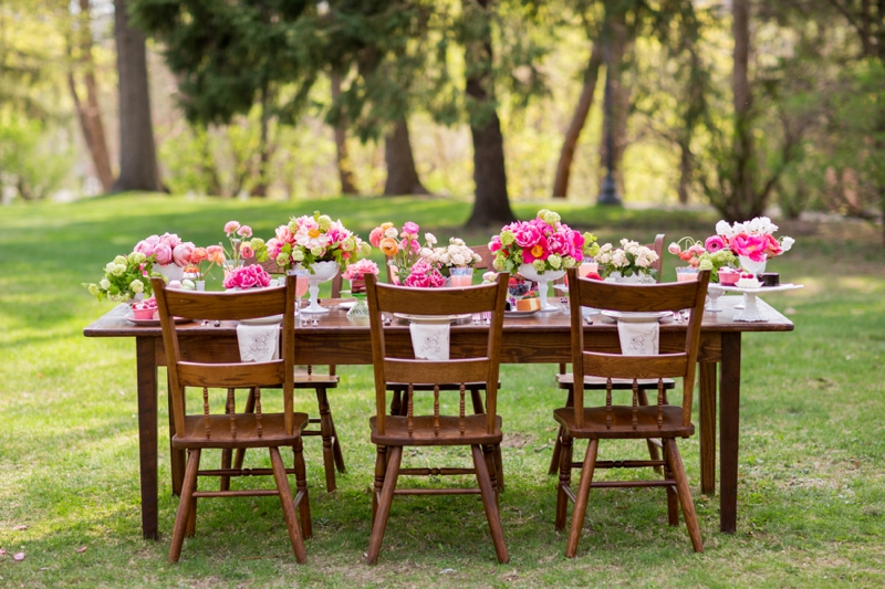 Outdoor Wedding Shower Ideas Part - 27: Hot Pink Garden Bridal Shower Ideas Via TheELD.com ...