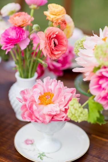 Hot Pink Garden Bridal Shower Ideas via TheELD.com