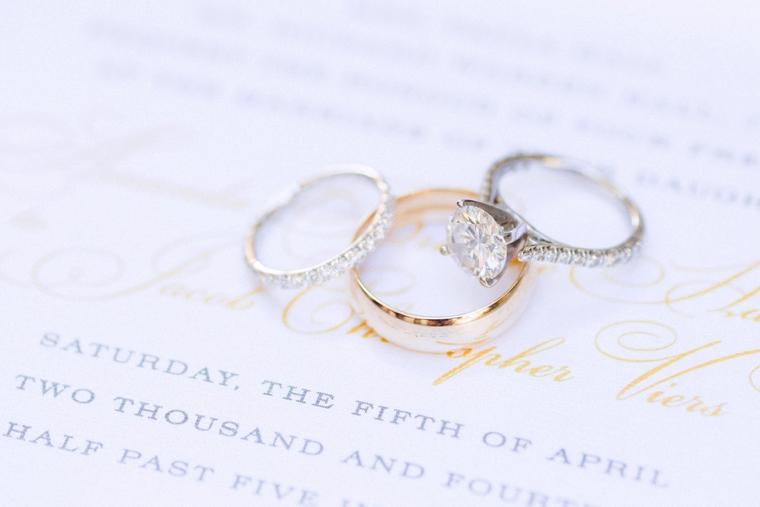 Romantic Blush Yacht Club Wedding via TheELD.com