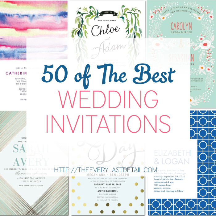 50 of the Best Wedding Invitations Part 2 Every Last Detail