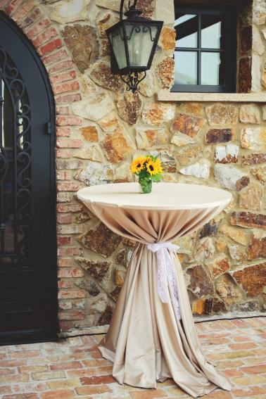 A Yellow and Blue Rustic Florida Wedding via TheELD.com
