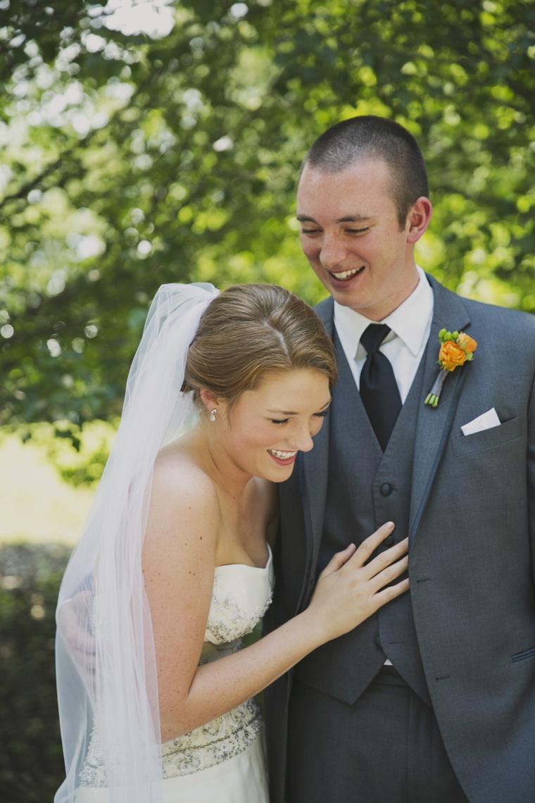 Orange & White Rustic Elegant Wedding via TheELD.com