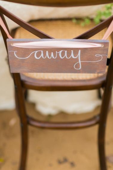 Peach & Blue Destination Wedding Ideas via TheELD.com