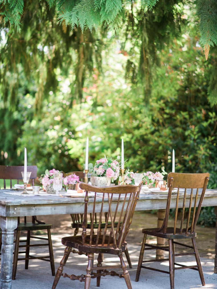 Romantic Pink Garden Wedding Ideas via TheELD.com