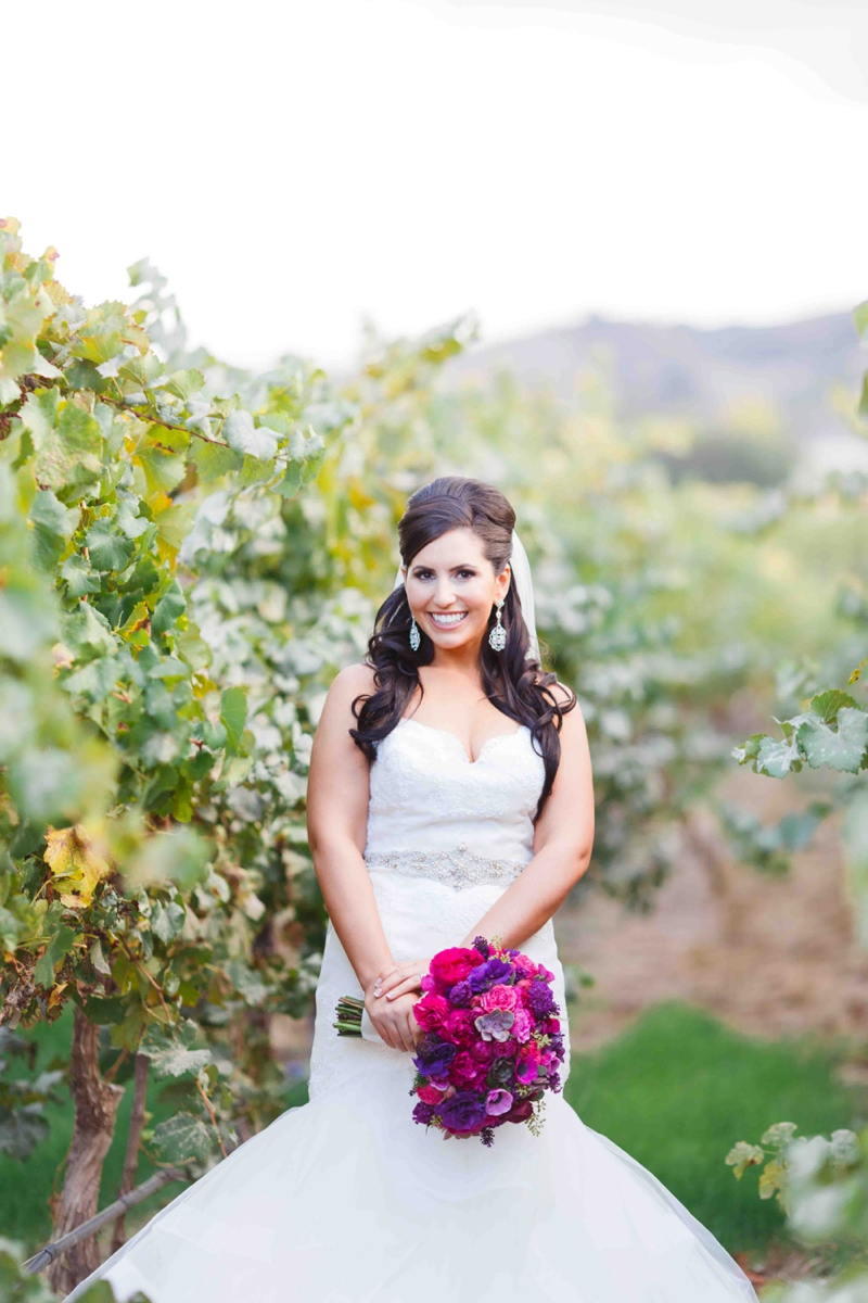 Vibrant Purple California Vineyard Wedding via TheELD.com