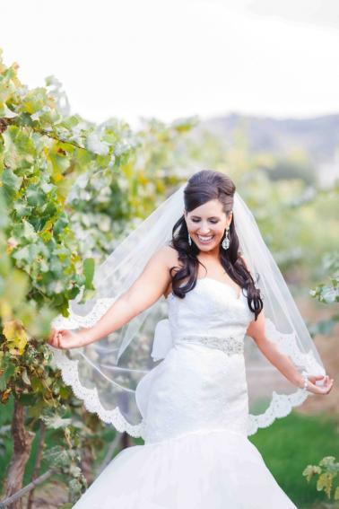 Vibrant Purple California Vineyard Wedding via TheELD.com