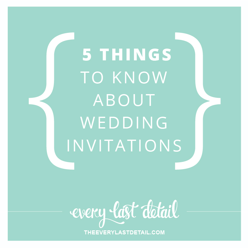5 Things To Know About Wedding Invitations via TheELD.com