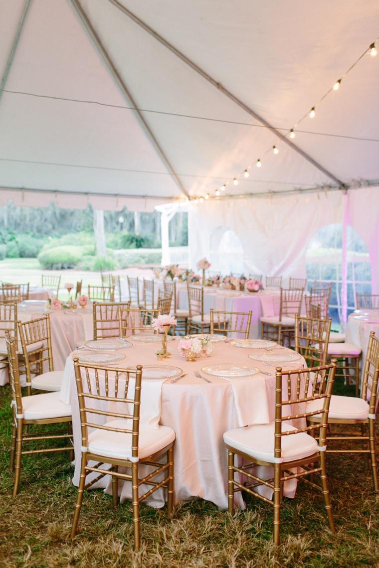 Elegant Blush and Gold Florida Wedding via TheELD.com