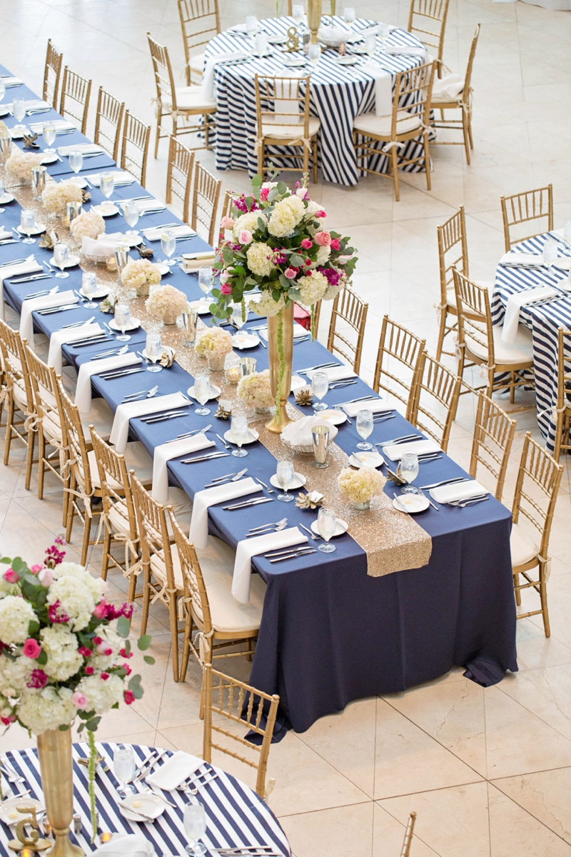 A Chic Navy, Pink and Gold Wedding via TheELD.com