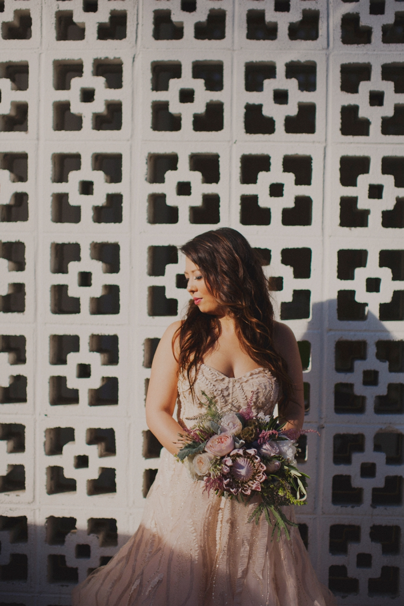 Eclectic Blush Palm Springs Wedding via TheELD.com