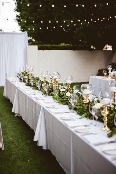 An Elegant Chic Gold and White Wedding via TheELD.com