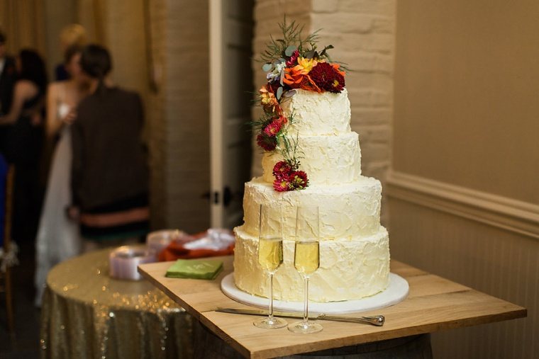 A Red & Orange Virginia Vineyard Wedding via TheELD.com