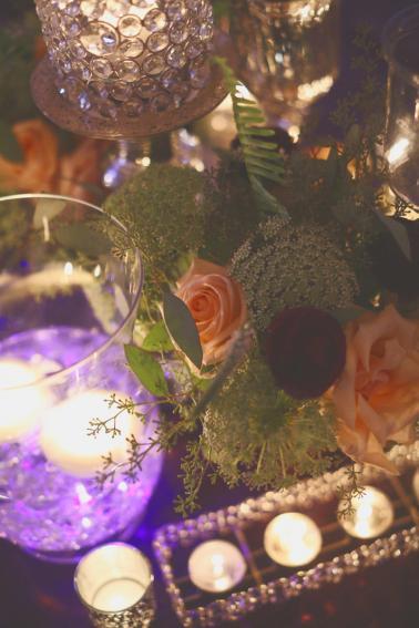Purple Candlelit Alabama Wedding via TheELD.com