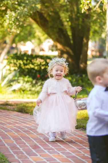 An Elegant Pink Halloween Wedding via TheELD.com