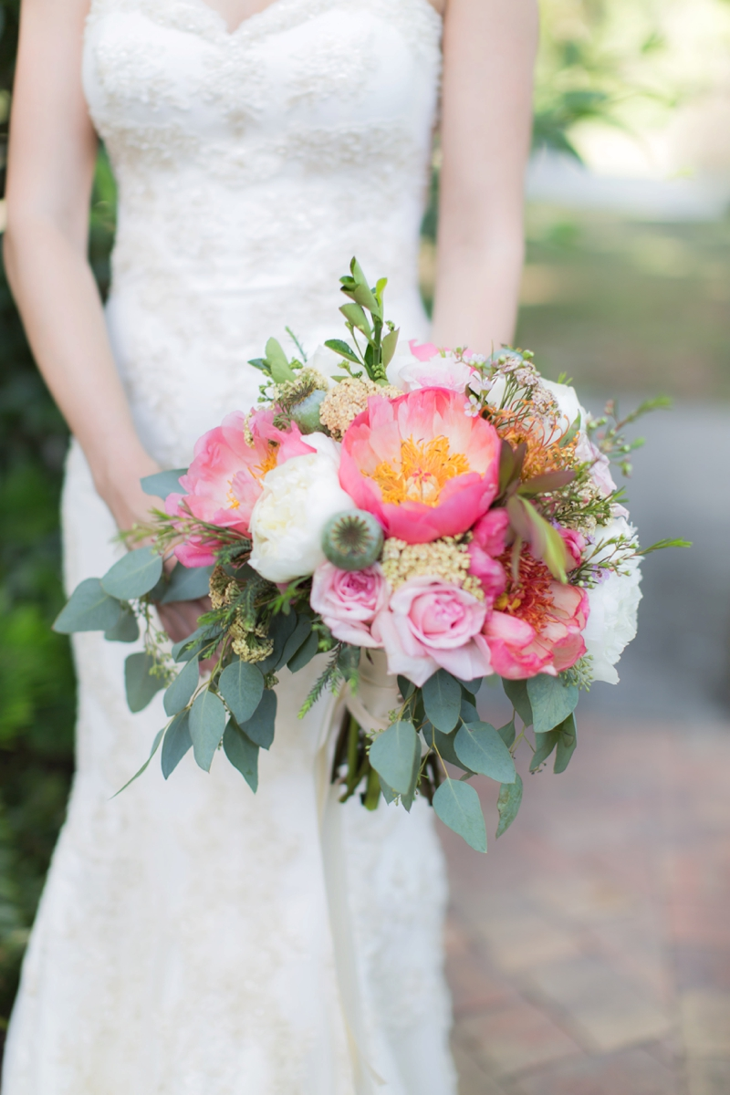 Elegant Pink Garden Wedding Inspiration via TheELD.com