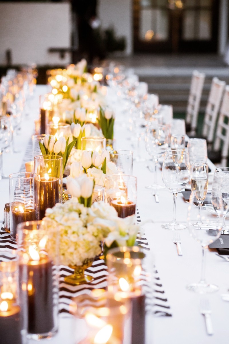 Stylish Black & White Palm Springs Wedding via TheELD.com
