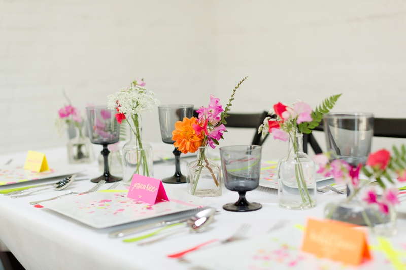 Chic Modern Neon Wedding Ideas via TheELD.com