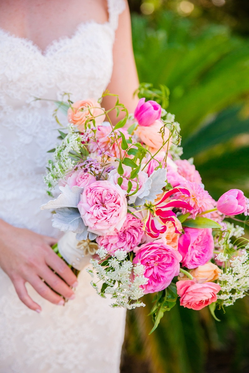 Colorful Pink & Orange Charleston Wedding | Every Last Detail