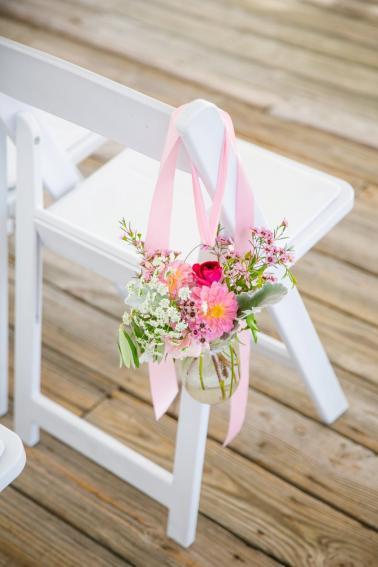 Colorful Pink & Orange Charleston Wedding via TheELD.com