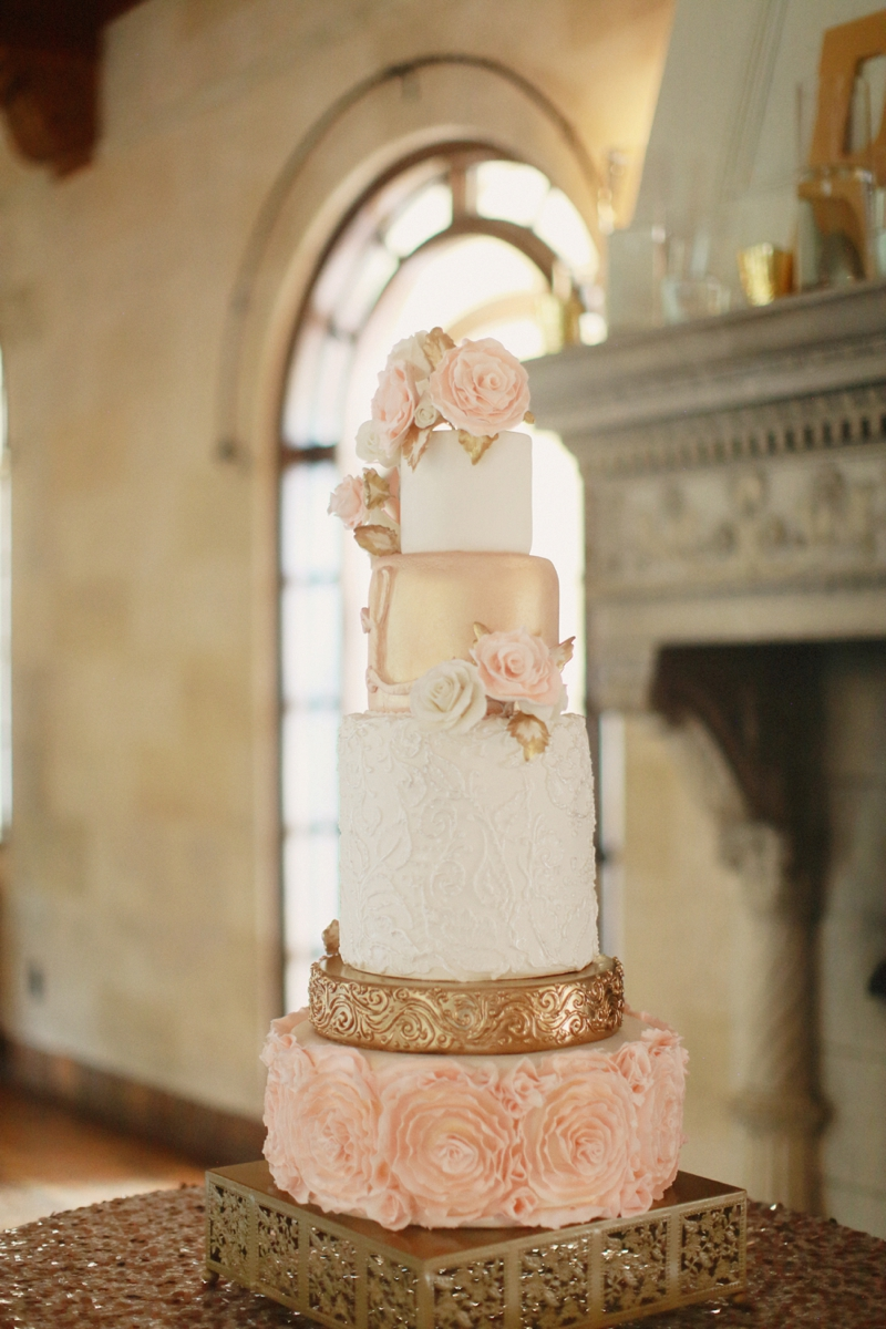 Elegant Blush and Gold Sarasota Wedding via TheELD.com