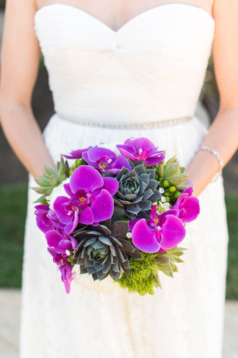 A Modern, Whimsical Purple and Green Wedding via TheELD.com