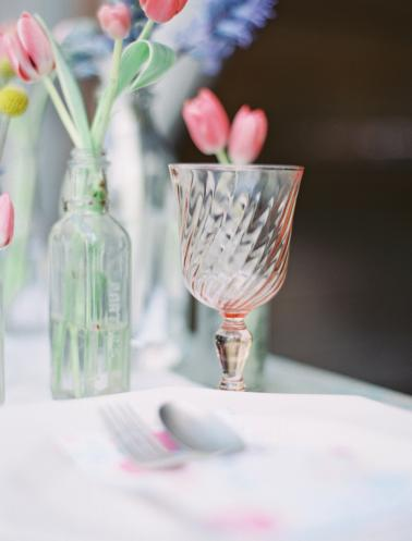 Spring Inspired Pink and Yellow Wedding Ideas via TheELD.com